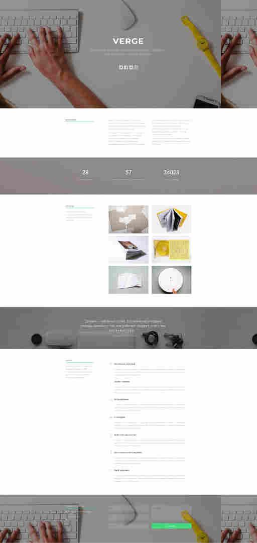 Креативный дизайн - шаблон для сайта